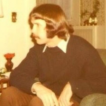 Tom on Christmas in 1972