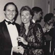 Tom and Barbara Ligeti (Producer of Bearing Witness) attend an event in the mid-80s