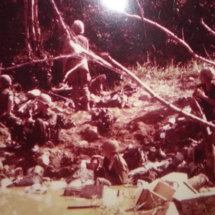 Tom's company at a 7 hour battle in February 1966 at the Bong Son plains.