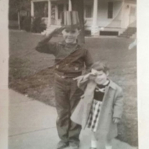 Tommy at age 6 with sister Barbara.